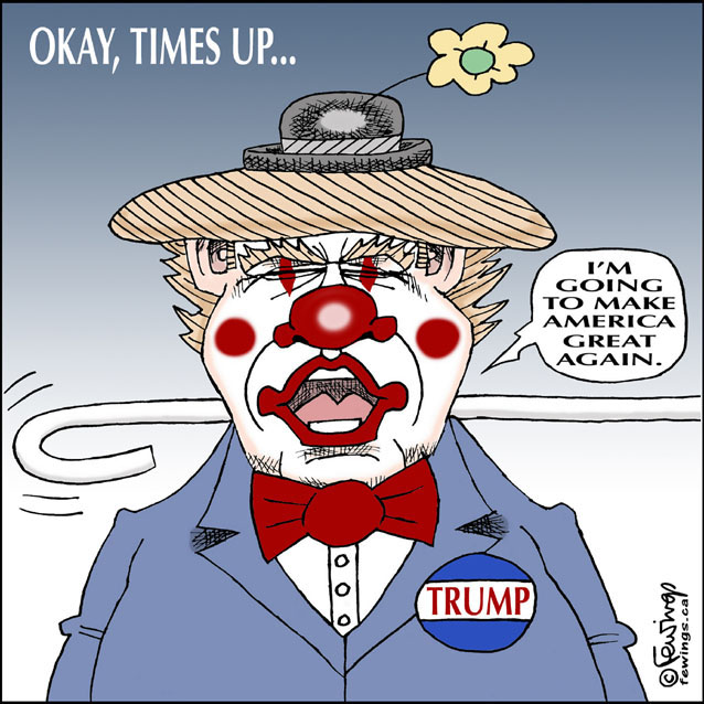Trump Times Up | Fewings Cartoons