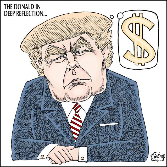 Trump Money | Fewings Cartoons