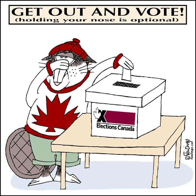 Image result for canadian voting cartoons 2019
